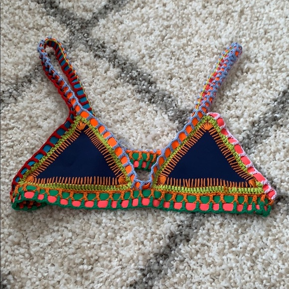 47311acacbdd2 KIINI Other - Tasmin Crochet Trim Bralette Bikini Top by Kiini